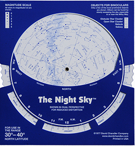 "image about Star Wheel Printable called The Evening Skyâ""¢: A Refreshing Sort of Planisphere David Chandler"