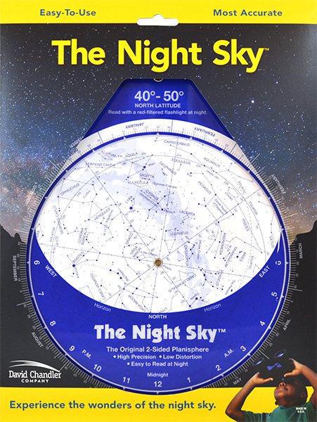 Led Shop Lights >> The Night Sky 40°-50°N (Large Plastic) - David Chandler ...